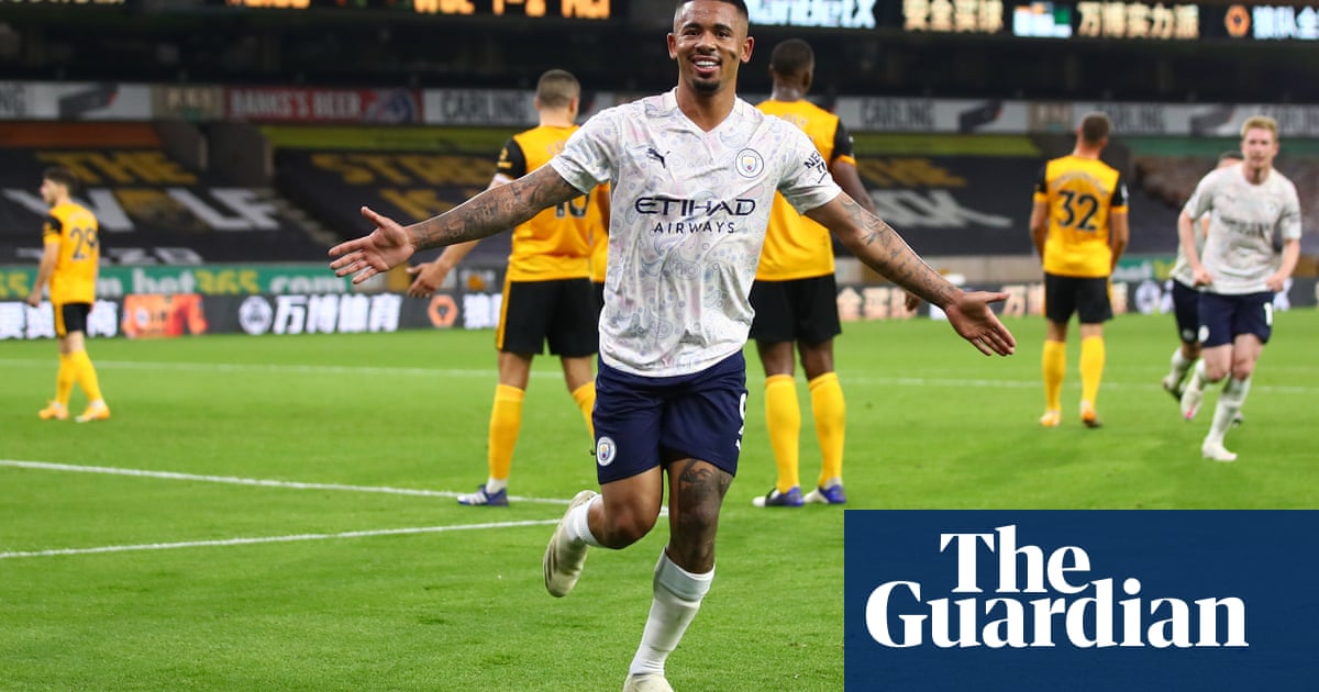 Gabriel Jesus ensures Manchester City start with a win despite Wolves rally