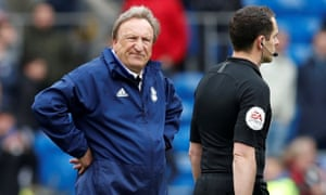Neil Warnock's Cardiff side are five points from safety but he thinks teams above them can still be caught.