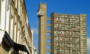 View of the Trellick tower, Notting Hill