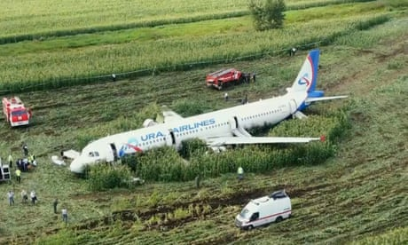How will they move the Russian plane that landed in a cornfield?