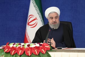 Iranian president, Hassan Rouhani, attends the National Combat Board Meeting with Coronavirus in Tehran, Iran on 23 January, 2021.