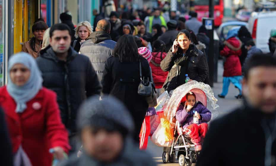 Shoppers in West Ham, east London.