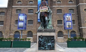 A statue of the slaveholder Robert Milligan outside the Museum of London Docklands