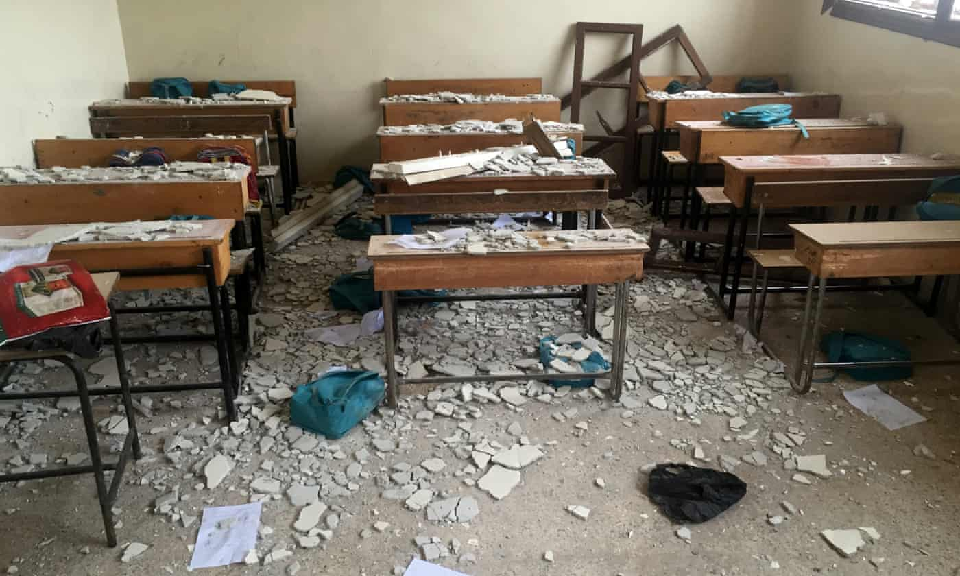 Syria monitor says children dead after Russian airstrike hits school