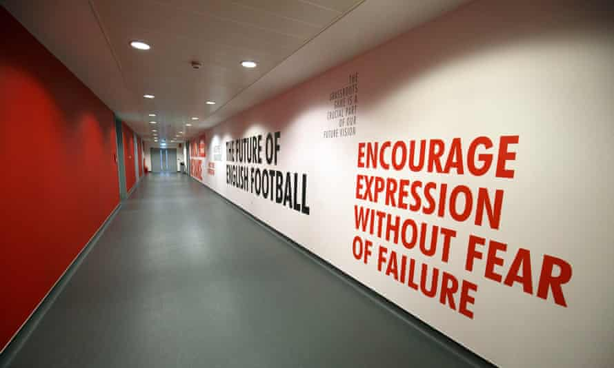 A corridor at St George's Park, pictured in 2017. Staff there have departed at the end of the redundancy consultation process.
