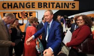 Tim Farron campaigning