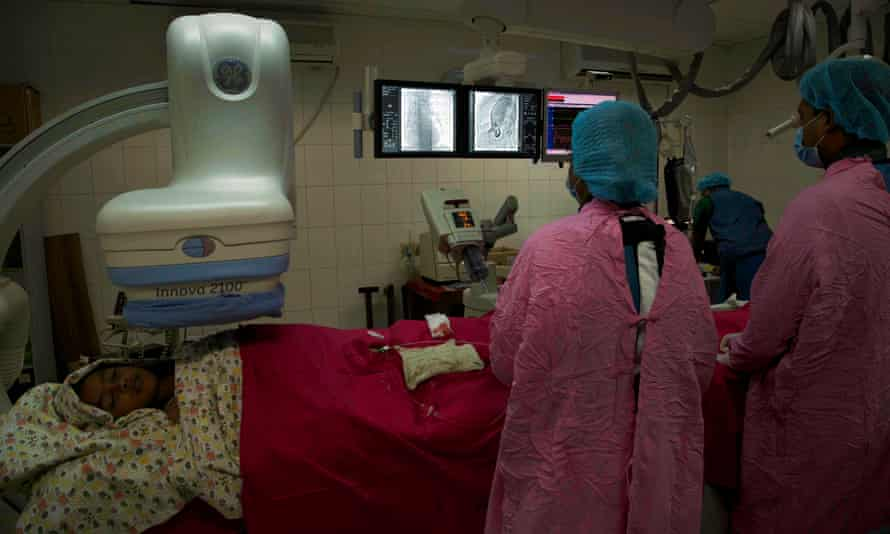 Heart surgery is performed at a hospital in Bangladesh