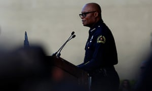 Dallas police chief David Brown speaks at the candlelight vigil.