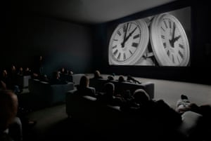 24-hour party people ... Christian Marclay's The Clock, 2010. Installation view with audience.