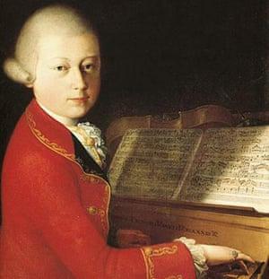 A portrait of Mozart, aged 14.