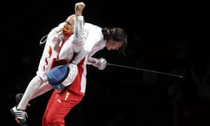 Sun Yiwen of China wins fencing gold