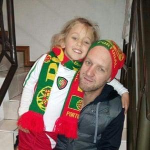 Paulo Dias and daughter Sienna.