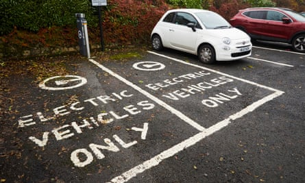 Electric vehicle charging points in Greater Manchester.