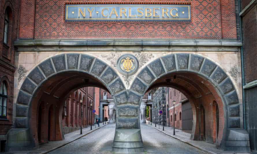 Detail of the Elephant Tower at the former Carlsberg Brewery in Ny Carlsberg Vej street in Copenhagen (Denmark).