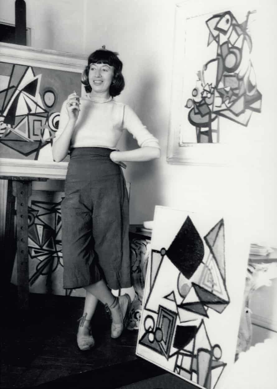 Lee Krasner in her New York studio, c 1939. Photograph by Maurice Berezov. Copyright A.E. Artworks, LLC.