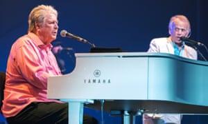 Brian Wilson and Al Jardine performing in 2017.