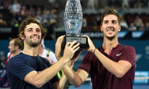 Australia's Thanasi Kokkinakis and Jordan Thompson