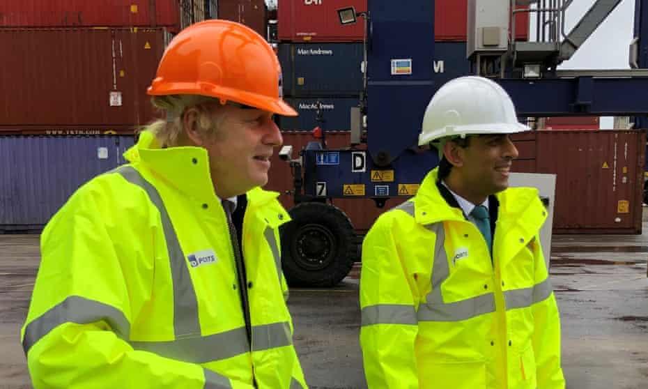 Boris Johnson and Chancellor Rishi Sunak.