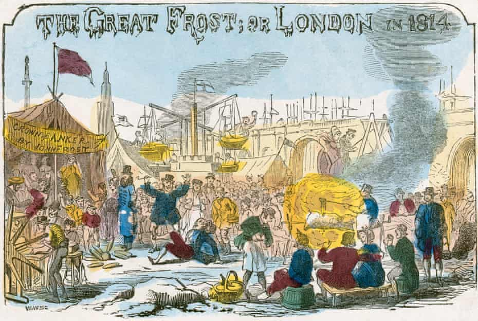 The last frost fair on the River Thames. From the Mayson Beeton Collection. Artist Unknown.