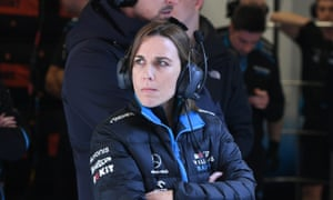 Claire Williams watches the Formula One team during testing.