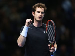 Murray celebrates victory.