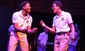 Jeremy Pope and Caleb Eberhardt in Choir Boy