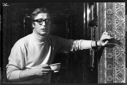 A Jane Bown portrait of Michael Caine in 1968, taken in his Grosvenor Square flat.