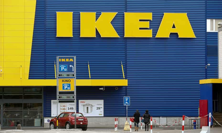 Ikea logo on store front
