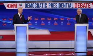 Joe Biden and Bernie Sanders stood far apart at the Democratic debate.