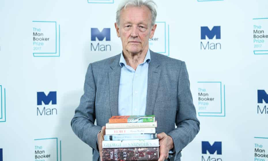 Weighing up the endorsements … Colin Thubron at the announcement of the 2017 Man Booker prize shortlist this week.