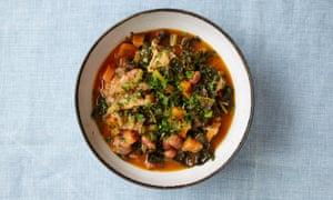Natalia Conroy's borlotti, parsley and bread soup.