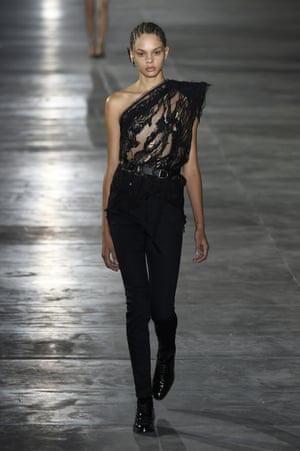 Saint Laurent at Paris fashion week