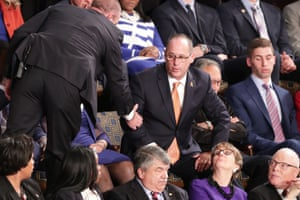 Fred Guttenberg, father of Parkland school shooting victim Jaime Guttenberg, is ejected after shouting during Donald Trump's State of the Union address Tuesday night.