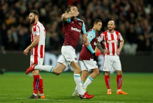 Carroll celebrates after scoring late.