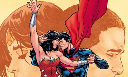 Just because you're superheroes, you can't just make up a language … cover of Superman and Wonder Woman Annual 2.