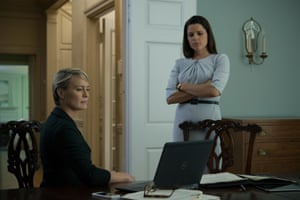 Robin Wright (left) and Neve Campbell in House of Cards