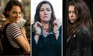 Phoebe Waller-Bridge in Fleabag, Celia Pacquola in Rosehaven and Tatiana Maslany in Orphan Black