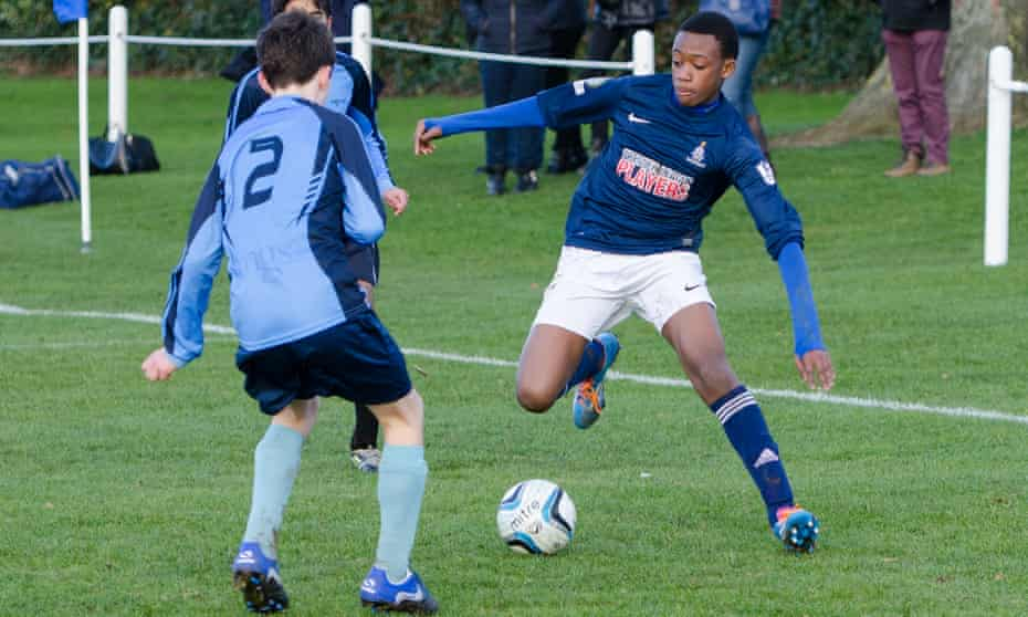 Callum Hudson-Odoi playing for Whitgift in 2013.