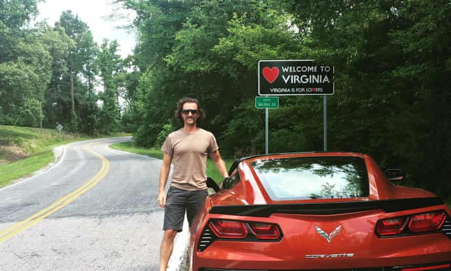 Benjamin Preston at the Virginia-North Carolina border