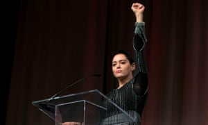 Rose McGowan in Detroit. 'The main benefit of the internet has been social connectivity: uniting marginalized groups in ways that give them a seat at the table.'