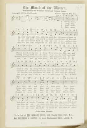 Smyth's March of the Women, which became the anthem of the women's suffrage movement.