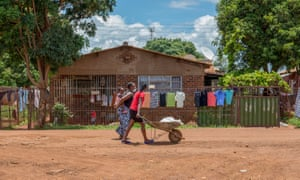A street in Kuwadzana.  Crystal meth used to be found only in the wealthiest suburbs, but it has spread to municipalities.