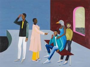 Le Rodeur: Exchange, 2016 by Lubaina Himid.