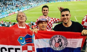 Australian Croatia fans at the World Cup in Russia