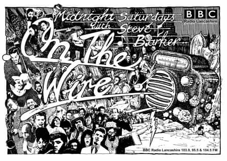 Poster for On the Wire, Steve Barker's BBC Radio Lancashire show.