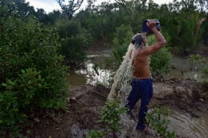 Christian Balderosdasco washes up after his dive
