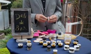 A dab bar at a wedding reception in Monterey