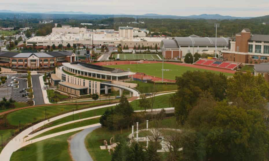 Liberty University campus in Lynchburg, Virginia.
