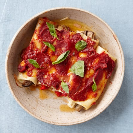 The Silver Spoon's cannelloni with aubergine.