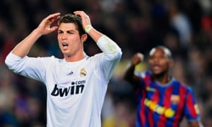 Cristiano Ronaldo scored 33 goals and Gonzalo Higuaín scored 29 as Real Madrid finished second to Barcelona in 2009-10.